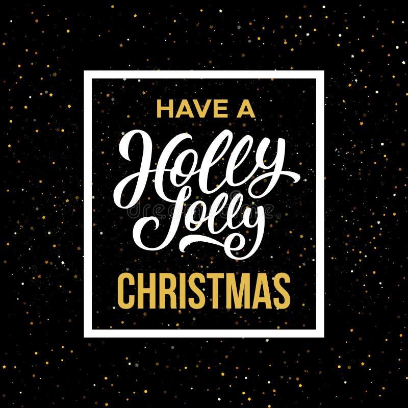 Ha en Holly Jolly Christmas också vektor för coreldrawillustration stock illustrationer