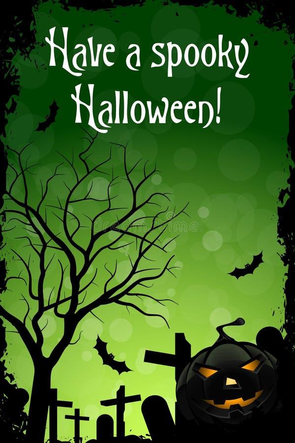 Ha en spöklika Halloween stock illustrationer