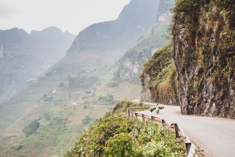Ha Giang Mountain Range, Northern Vietnam. Road in the Ha Giang Mountain Range, Northern Vietnam stock photos