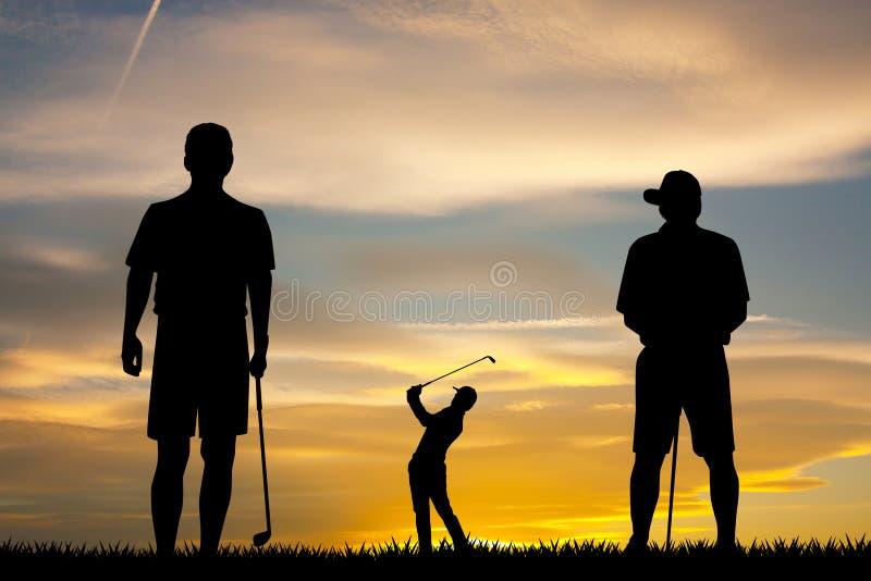 Ha gyckel som spelar golf vektor illustrationer