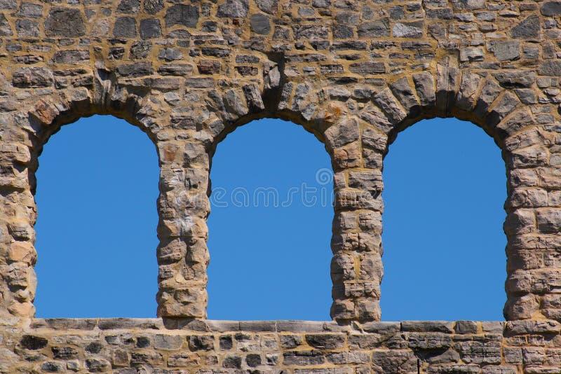 Ha Ha Tonka castle ruins stock image