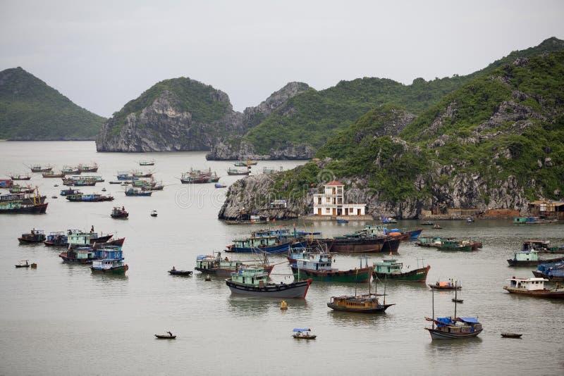 Ha-langer Schacht, Katze-Ba-Insel, Vietnam stockfotos