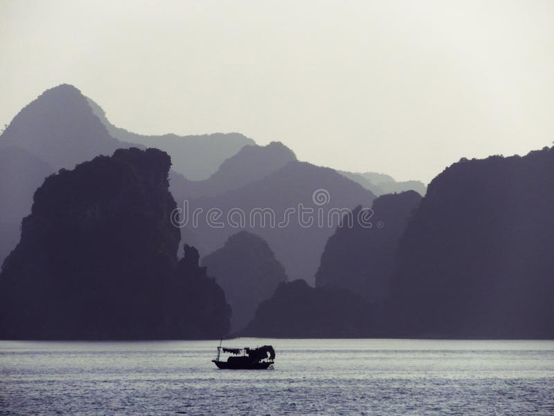 Ha Long Bay At Dusk stock photography
