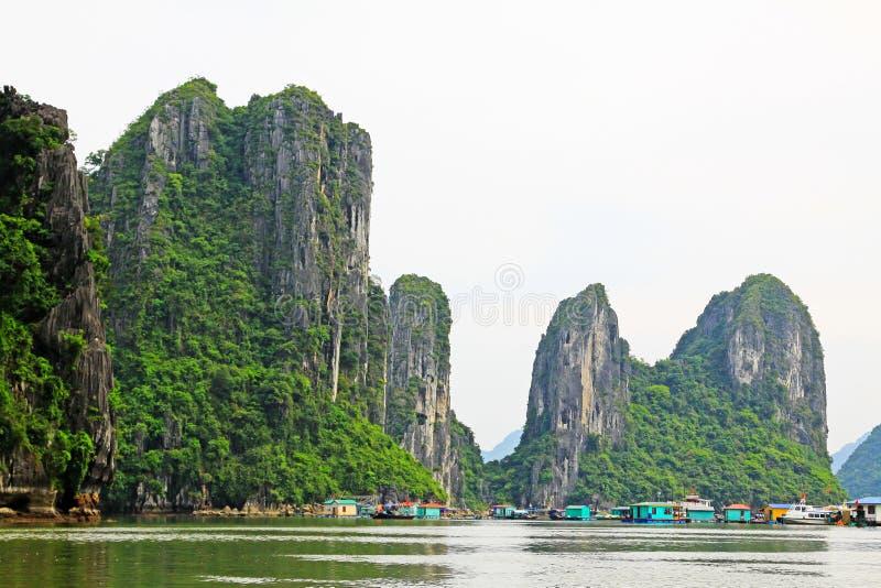 Ha Long Bay Floating Fishing Village, Vietnam UNESCO World Heritage royalty free stock image