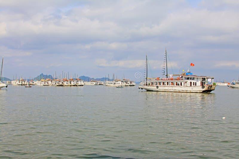 Ha Long Bay Sightseeing Boat, Vietnam UNESCO World Heritage royalty free stock images