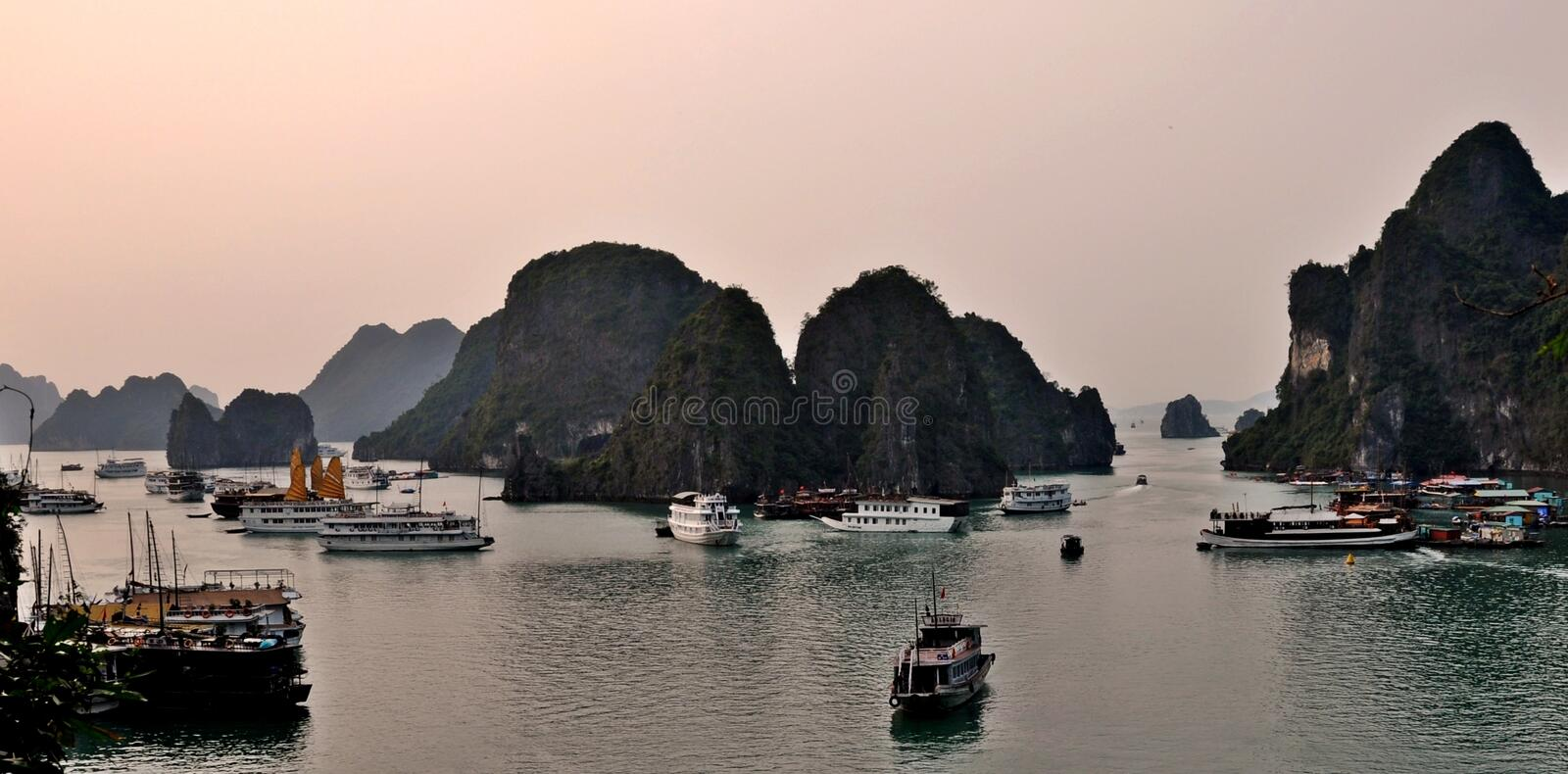 Ha Long Bay in Vietnam royalty free stock photos