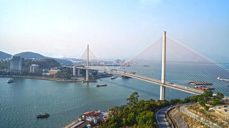 Ha Long bridge. Day stock image