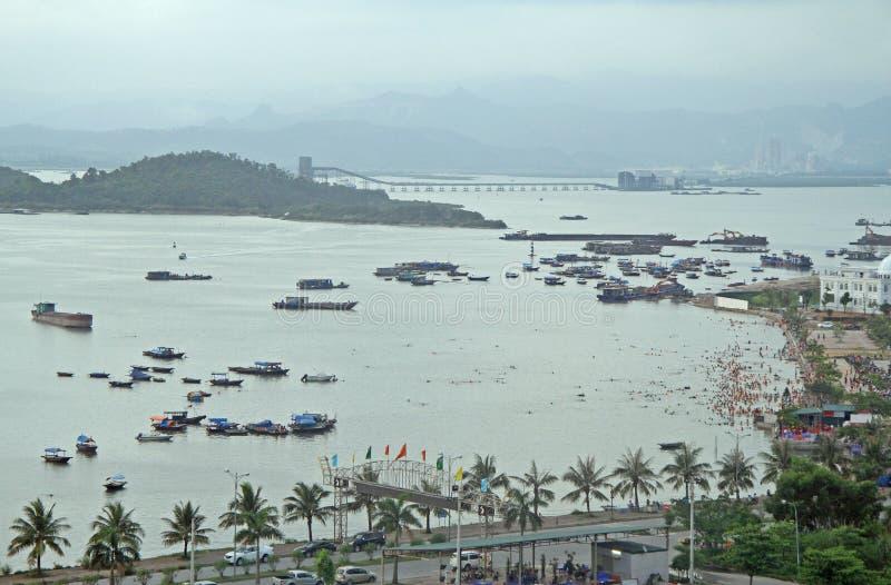 Download Ha Long City, The North Of Vietnam Stock Photo - Image of fishermen, long: 83717892