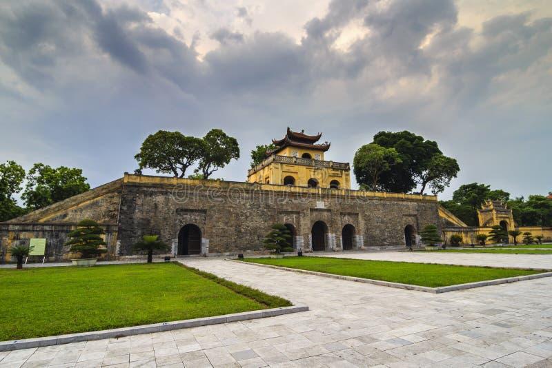 Ha NOI, VIETNAM - 25 juli, 2015 - de Keizer Lange Citadel van Thang royalty-vrije stock afbeelding