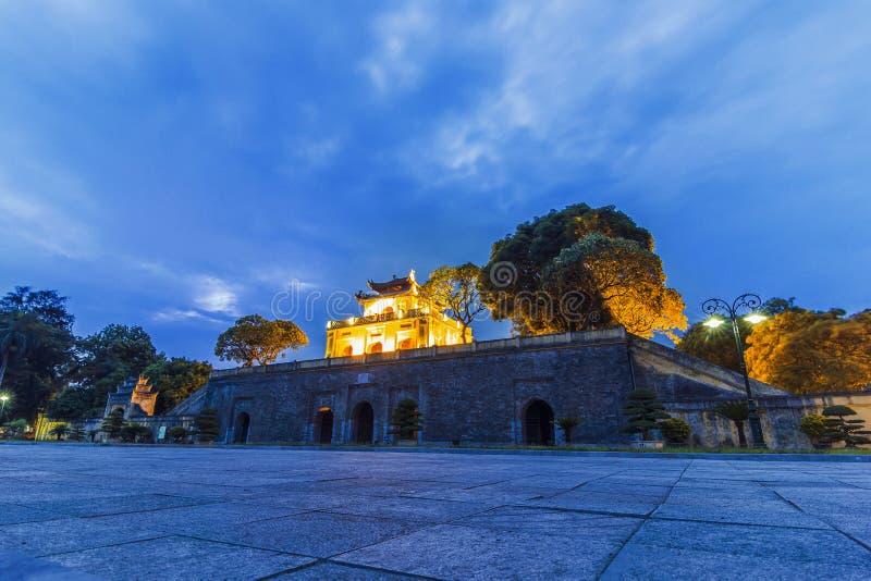 Ha NOI-, VIETNAM - 25. Juli 2015 - die Kaiserzitadelle von Thang lang stockbild