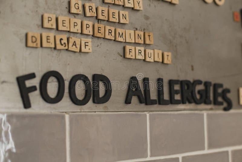 Ha ottenuto tutte le allergie alimentari? fotografia stock libera da diritti