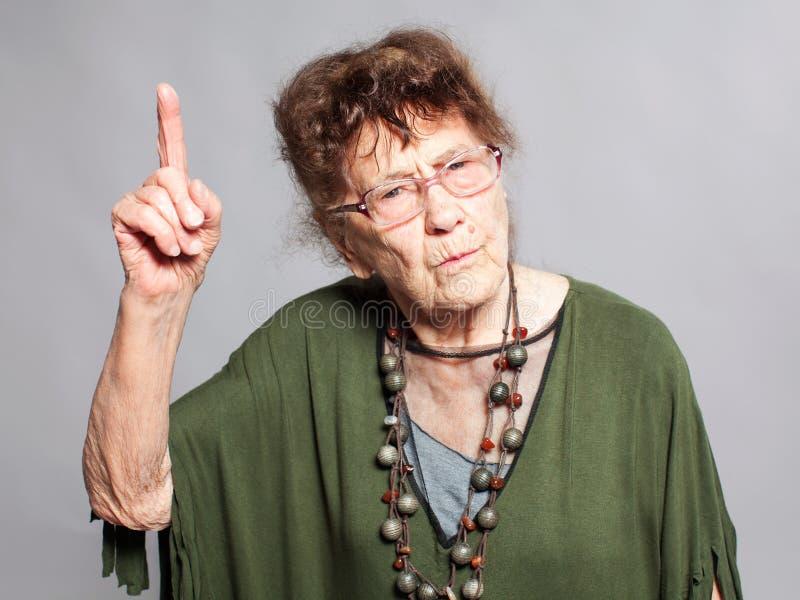 Ha rimproverato la femmina anziana immagini stock libere da diritti
