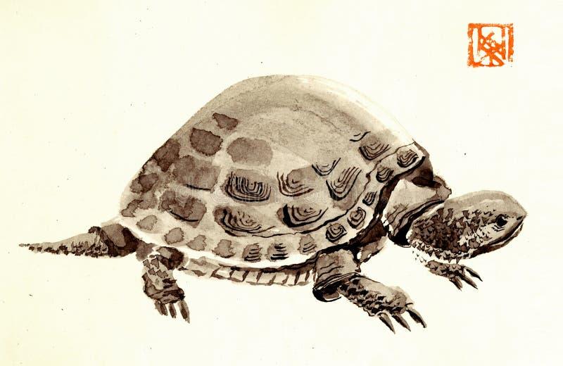 Ha sex med sköldpadda royaltyfri illustrationer