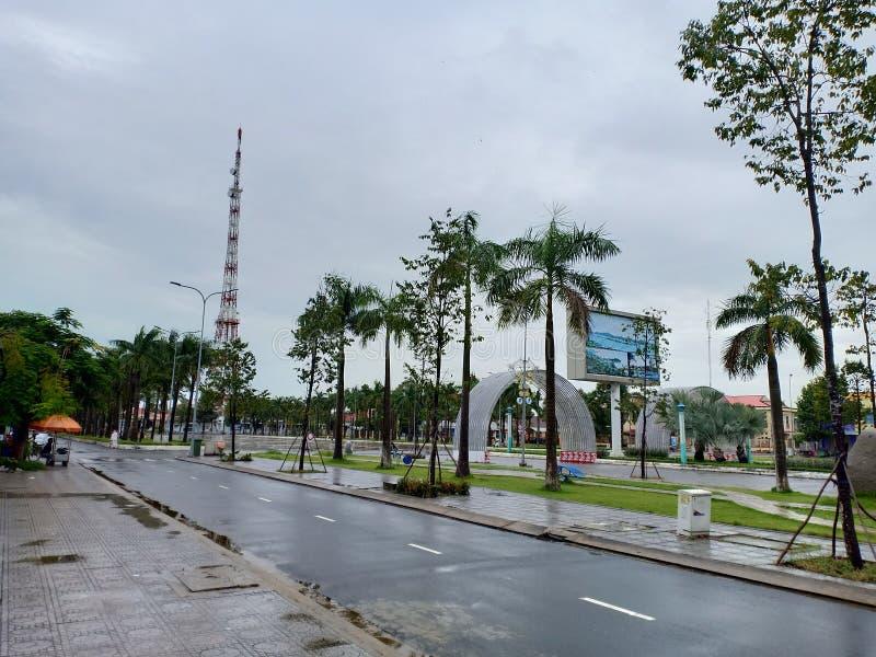 Ha Tien Square onde os eventos culturais ocorrem nesta cidade foto de stock royalty free