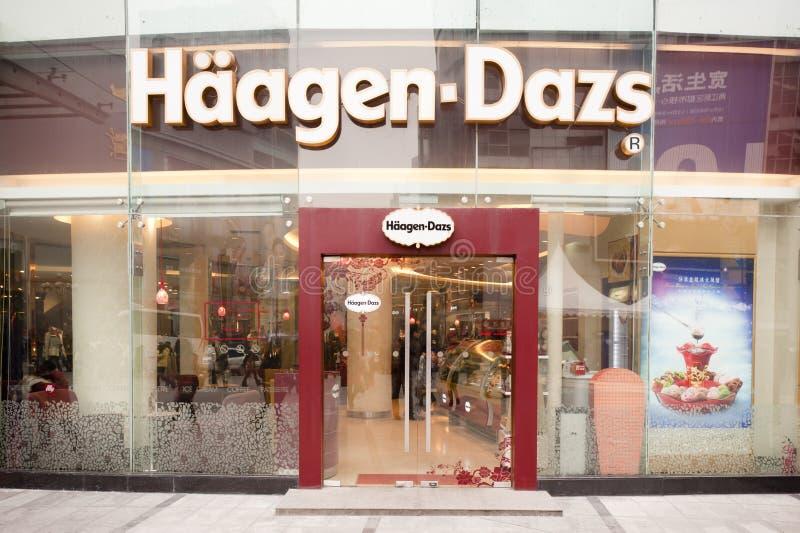 haagen dazs фарфора стоковая фотография rf
