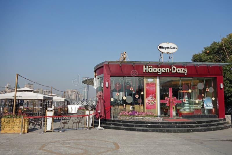 Haagen-Dazs in Shanghai royalty free stock photos