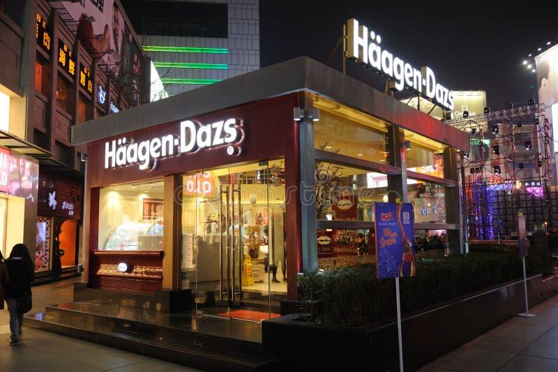 Haagen-Dazs store in chengdu stock photography
