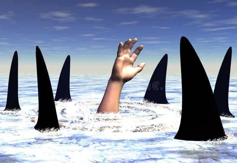 Haaien royalty-vrije illustratie