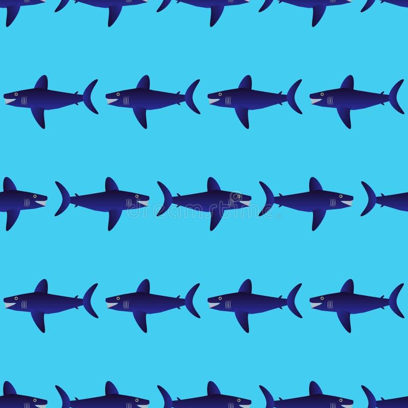 Haaien naadloos patroon royalty-vrije illustratie
