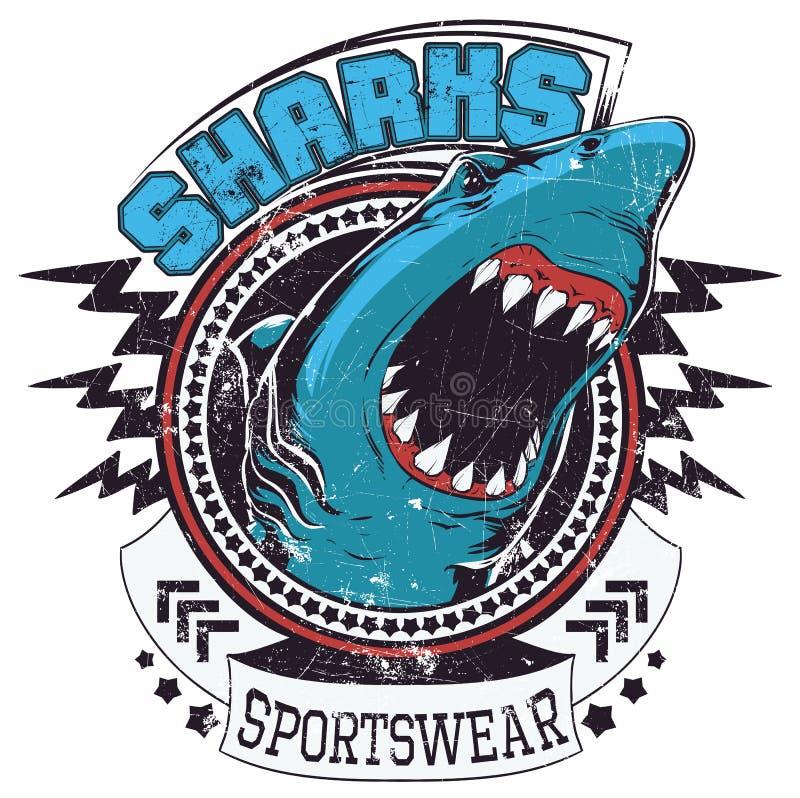 Haaiensportkleding royalty-vrije illustratie