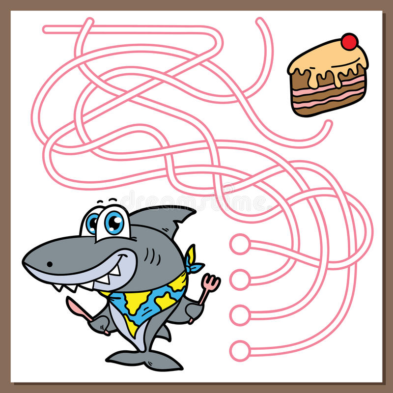Haaispel stock illustratie