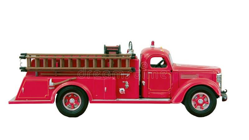Haak en ladder firetruck stock foto's