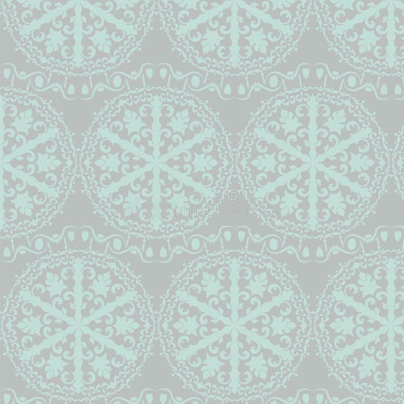 Haak kant om ornamentpatroon stock illustratie