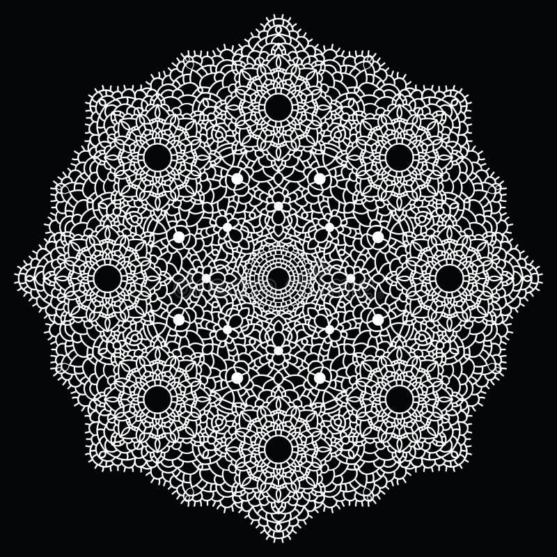 Haak kantmandala. vector illustratie
