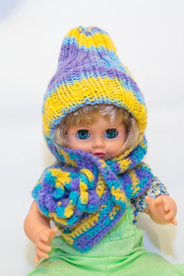 Haak sjaal en hoed royalty-vrije stock fotografie