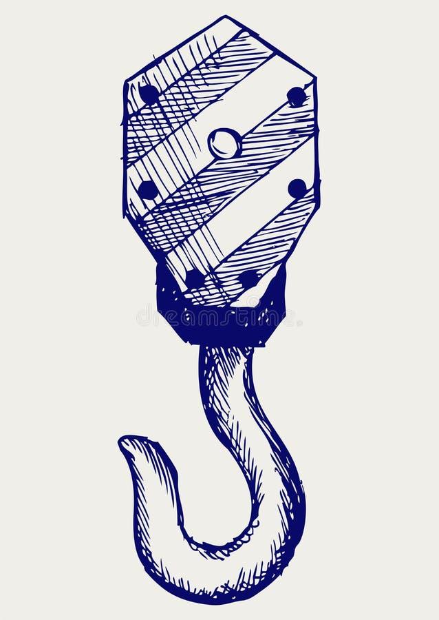 Haak van een kraan stock illustratie