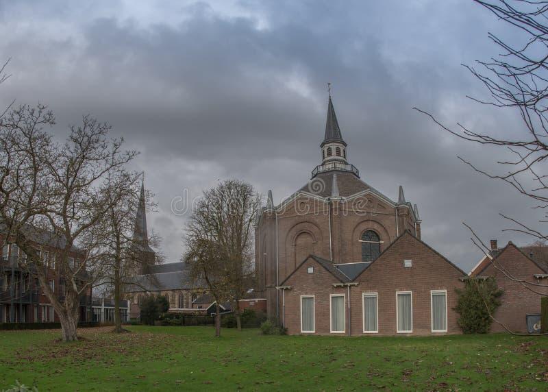 haaksbergen的新教徒的教会 库存照片