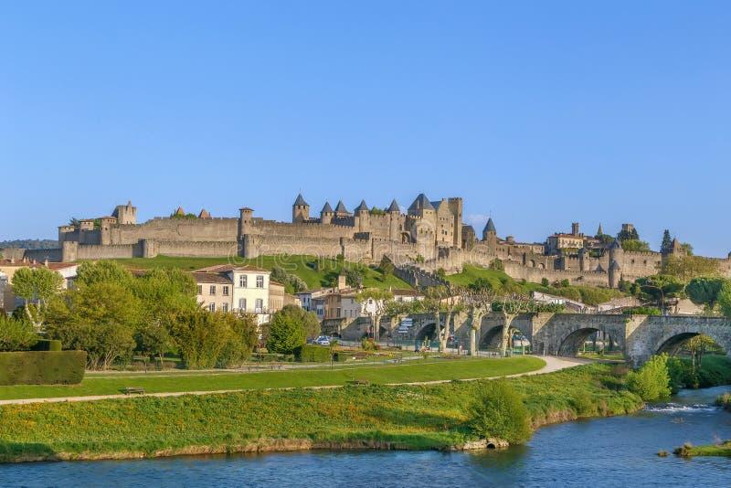Haal DE Carcassonne, Frankrijk aan stock afbeeldingen