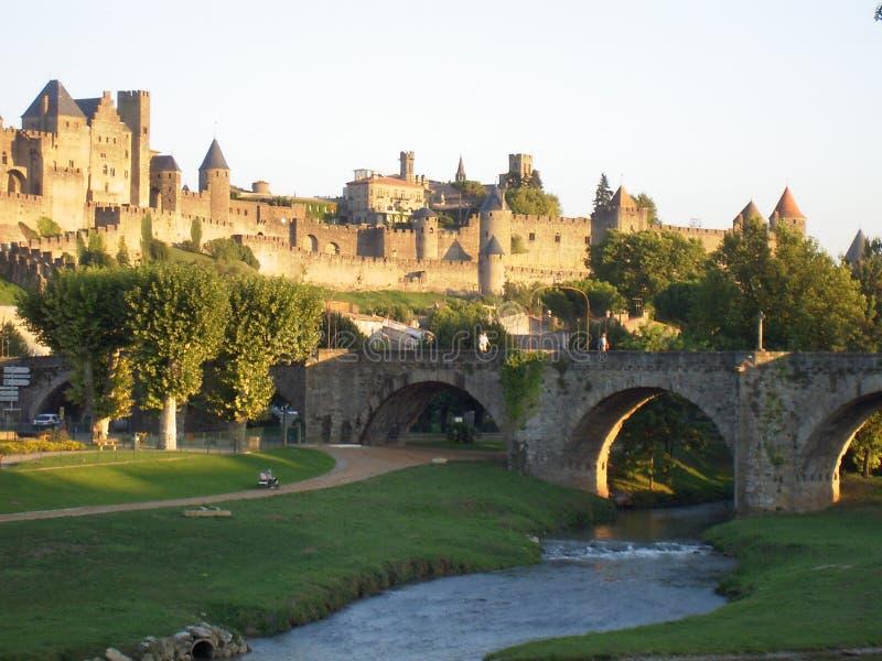 Haal DE Carcassonne (Frankrijk) aan royalty-vrije stock foto's