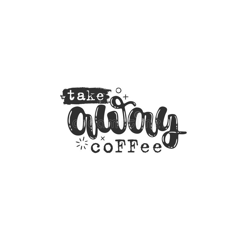 Haal koffie weg vector illustratie