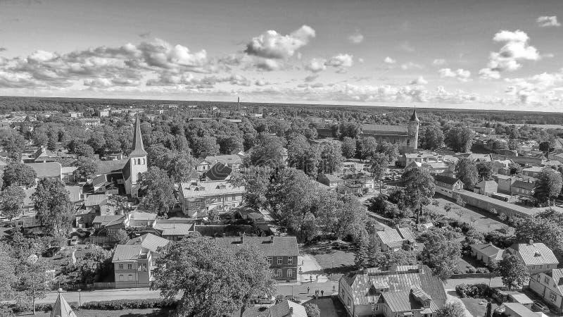 Haapsalu, естонија Красивый вид с воздуха в сезоне лета стоковое изображение rf