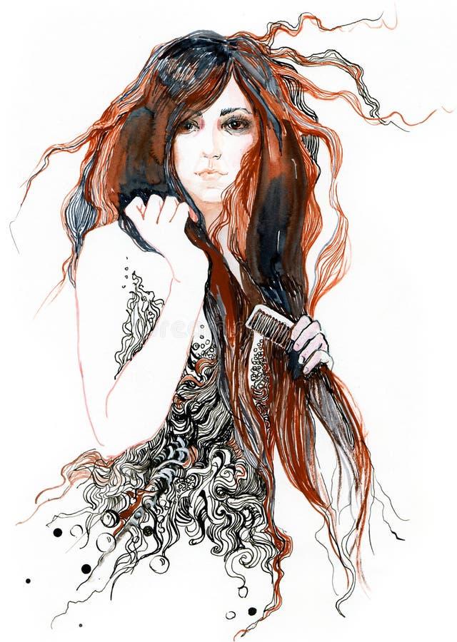 Haar royalty-vrije illustratie