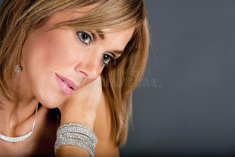 Haar en make-up royalty-vrije stock fotografie