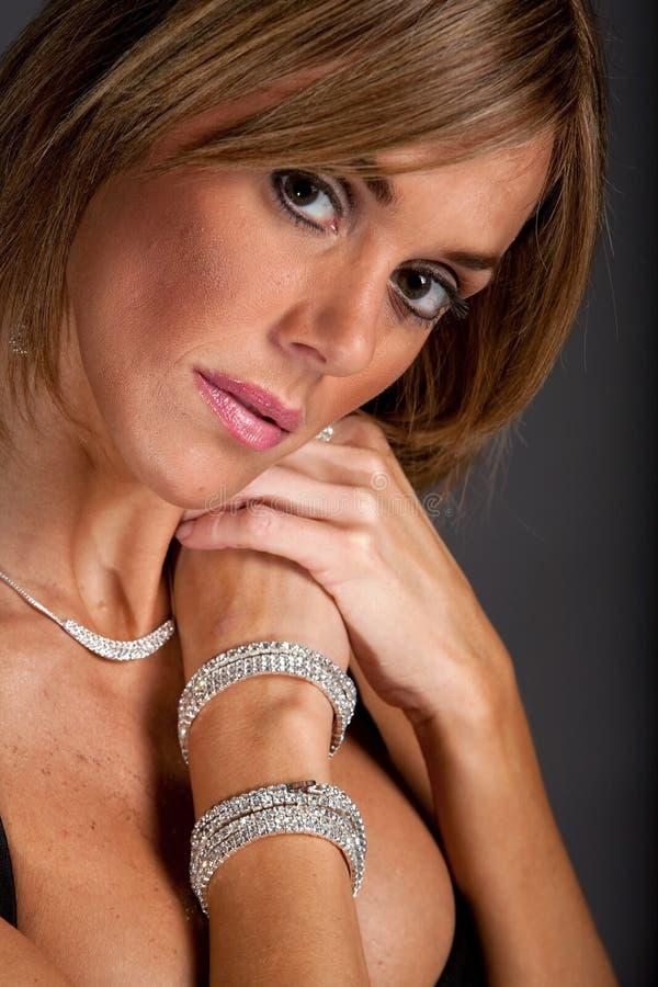 Haar en make-up royalty-vrije stock foto's