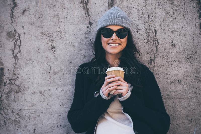 Haar glimlach kan uw hart smelten stock afbeelding