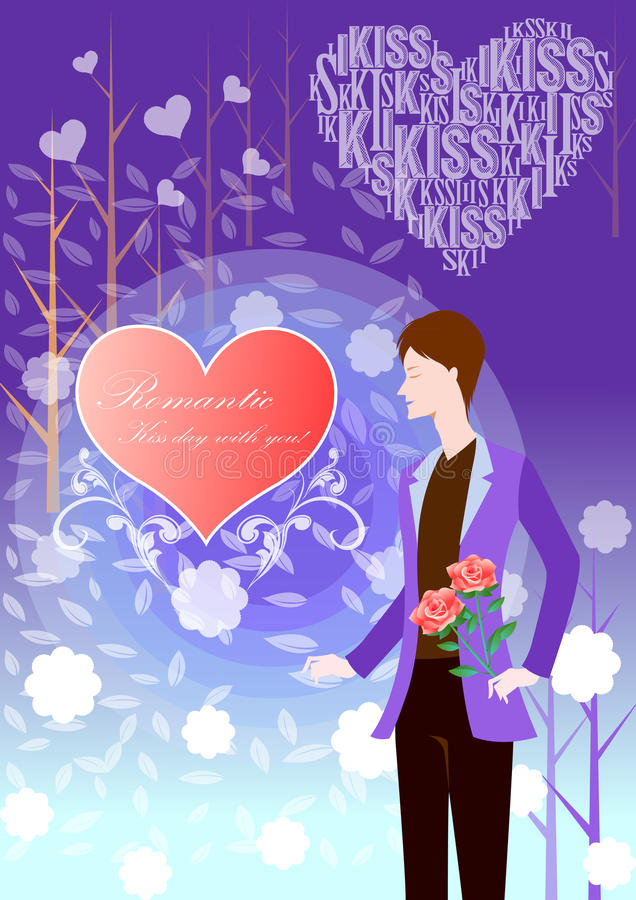Haar hart royalty-vrije illustratie