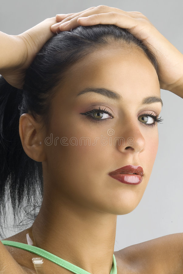 Haar omhoog royalty-vrije stock foto