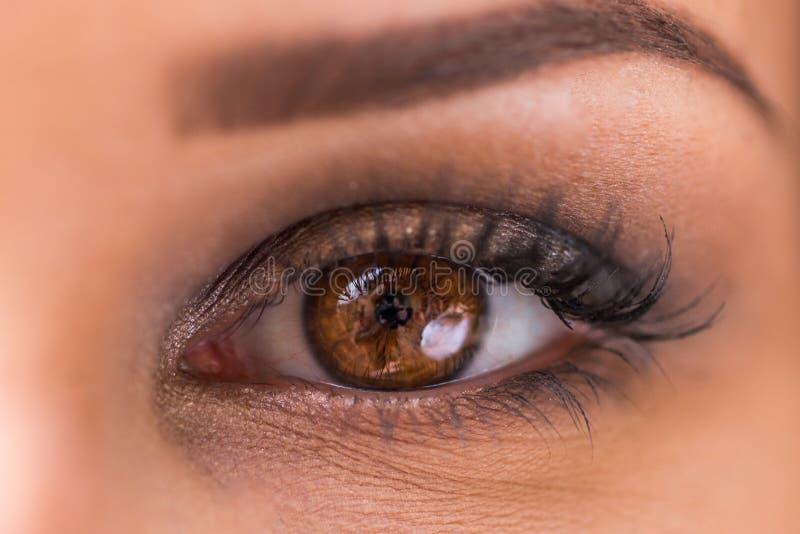 Haar oog zegt welke woorden ` t kunnen royalty-vrije stock foto's