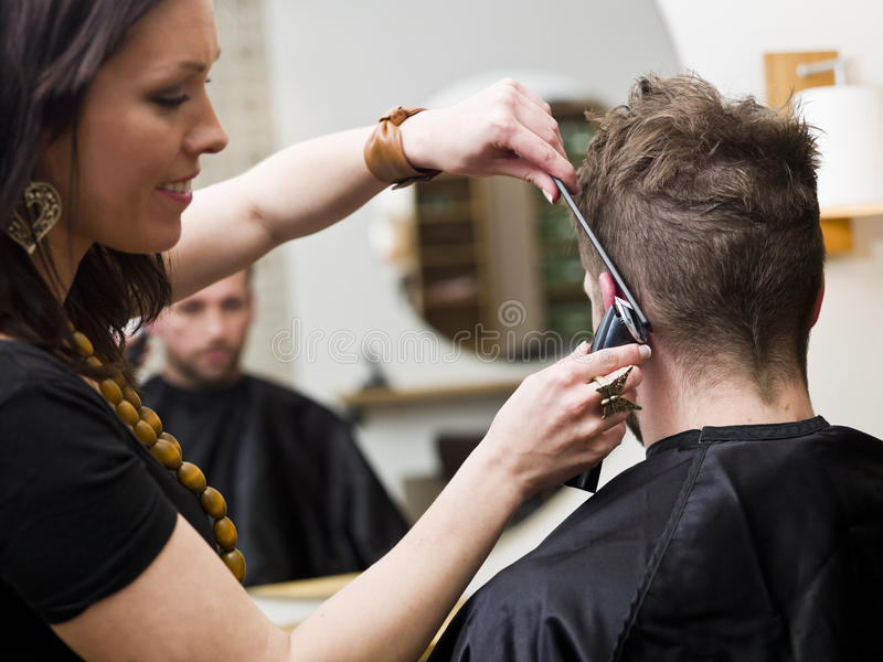 Haar-Salonsituation stockbild