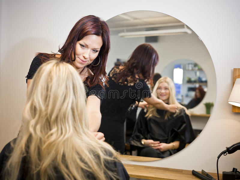 Haar-Salonsituation lizenzfreie stockfotos