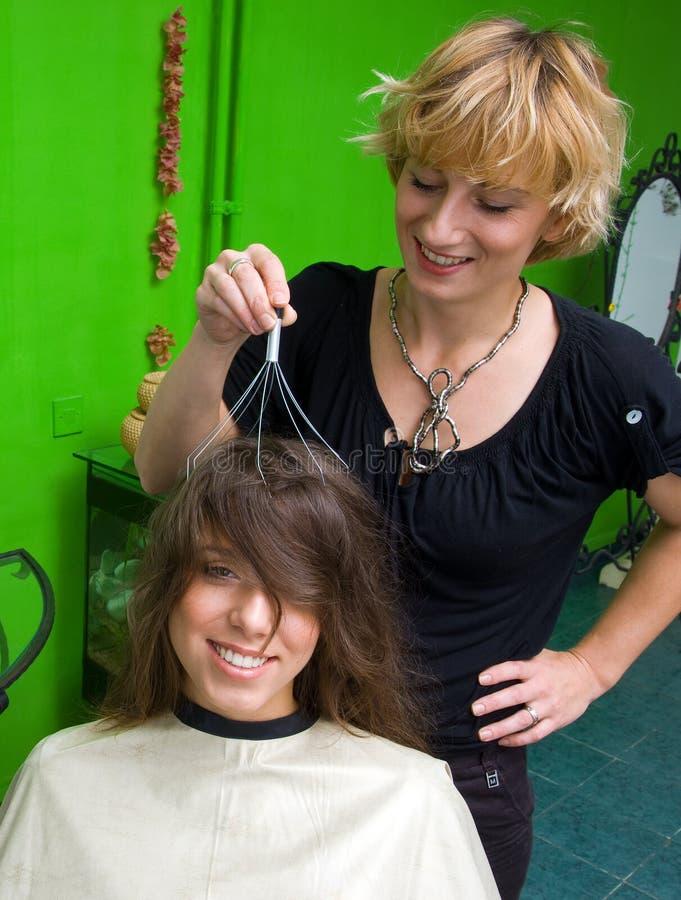 Haar und Kopfhaut Massager lizenzfreie stockbilder