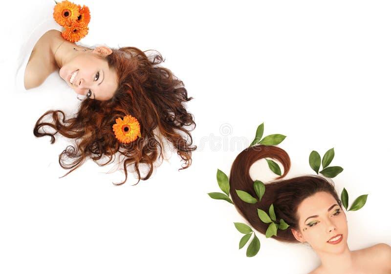 Haar und Natur stockbild