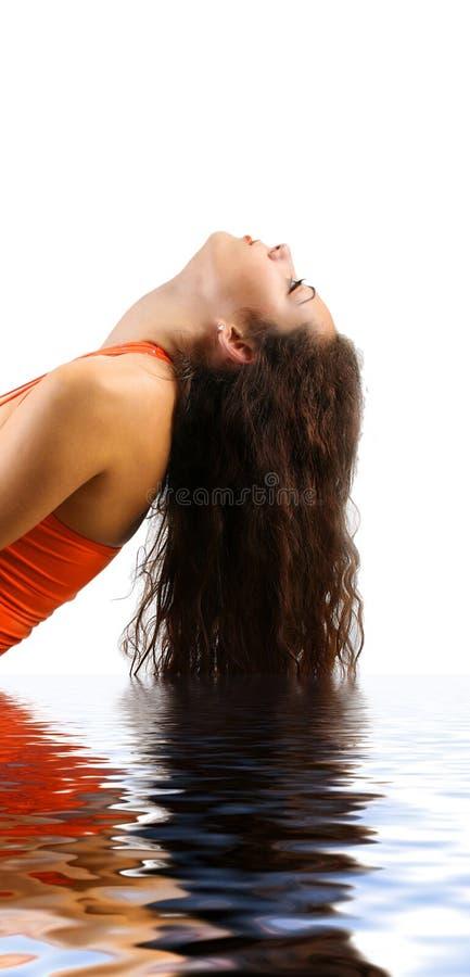 Haar-Wasser lizenzfreies stockbild