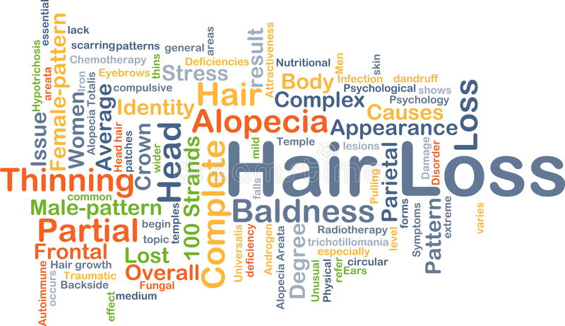 Haarausfallhintergrundkonzept stock abbildung