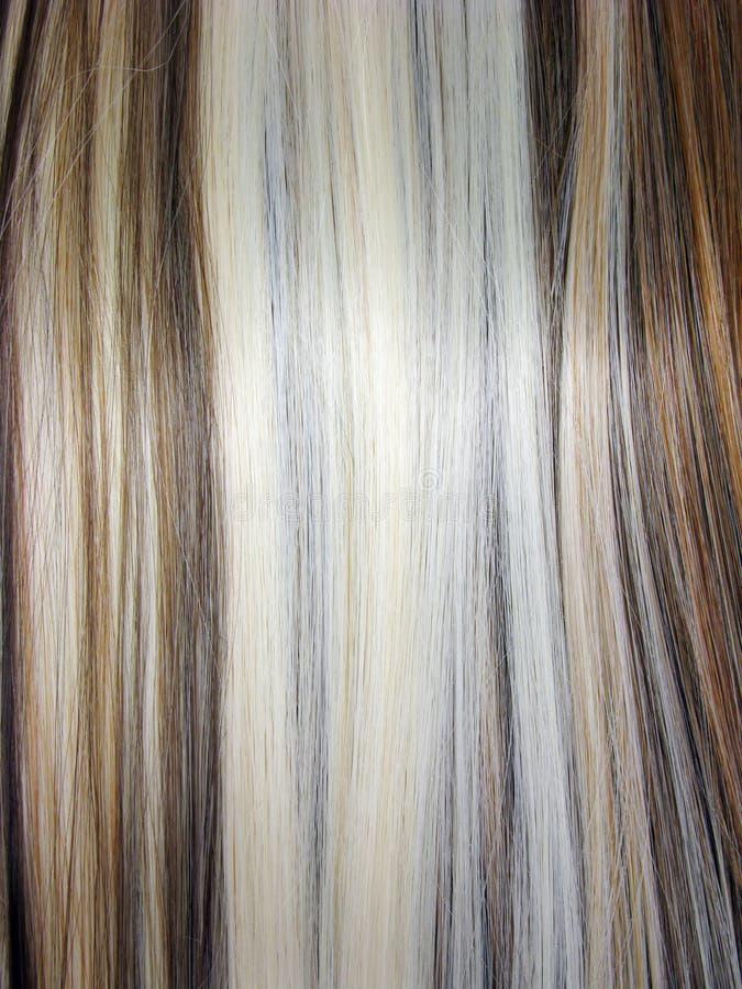 Haarbeschaffenheit des blonden und dunklen Brauns stockfotografie