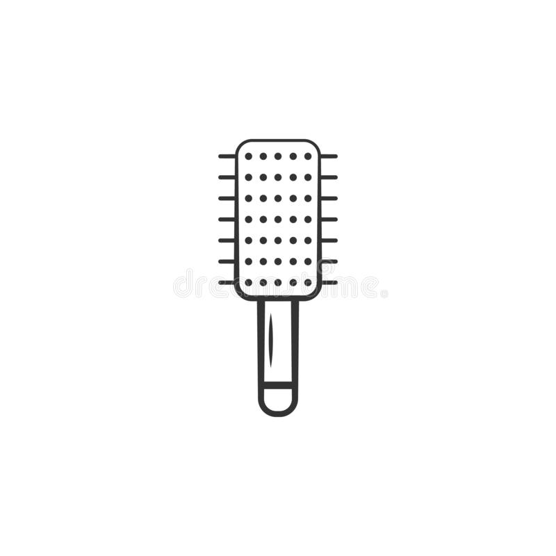 Haarborstelpictogram Element van het pictogram van de vrouwenmake-up voor mobiele concept en webtoepassingen Het gedetailleerde H stock illustratie